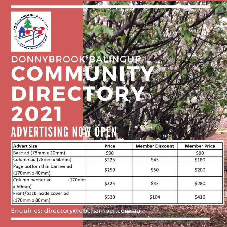 2021 COMMUNITY DIRECTORY ADVERTISING NOW OPEN!